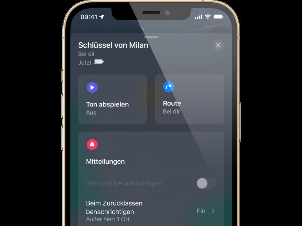 iOS 15: Beim Zurücklassen benachrichtigen