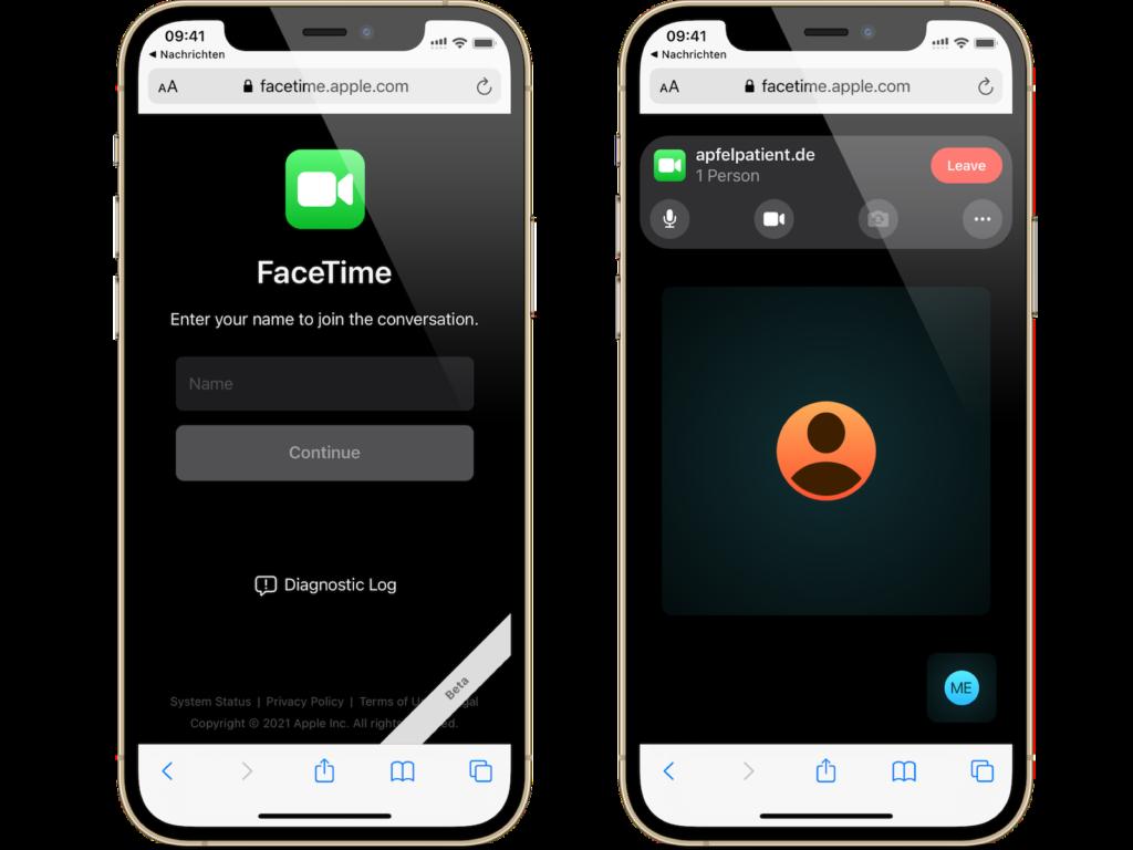 iOS 15 FaceTime Link