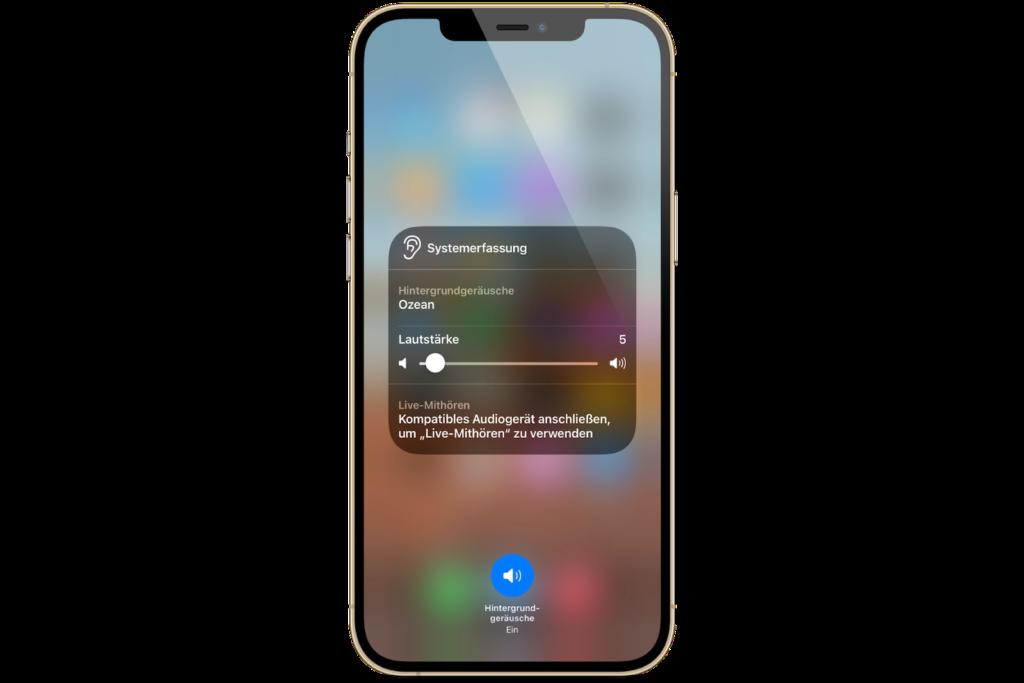 iOS 15 Hintergrundgeräusche