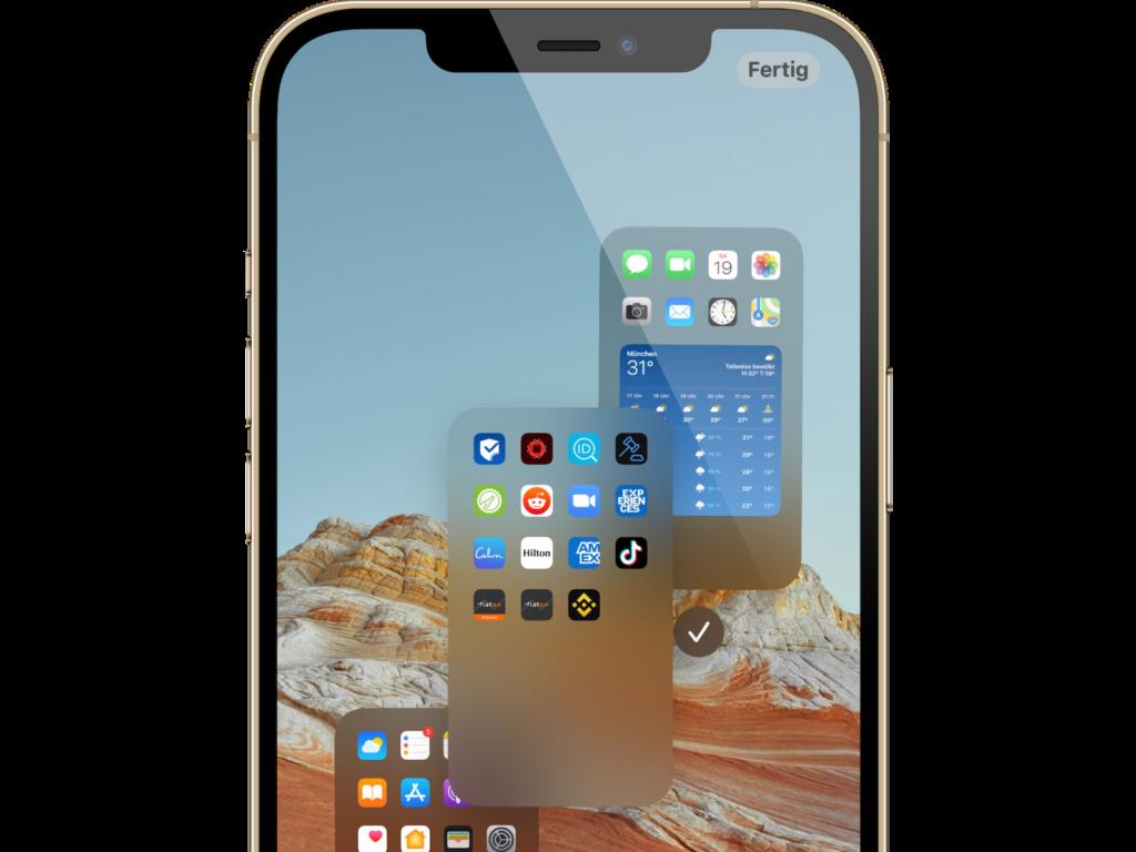 iOS 15: Startbildschirmseiten neu anordnen und löschen