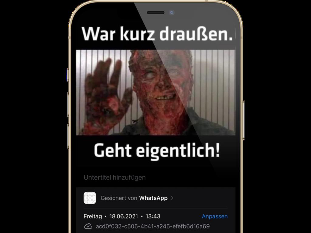 iOS 15: Datum und die Uhrzeit von Fotos anpassen