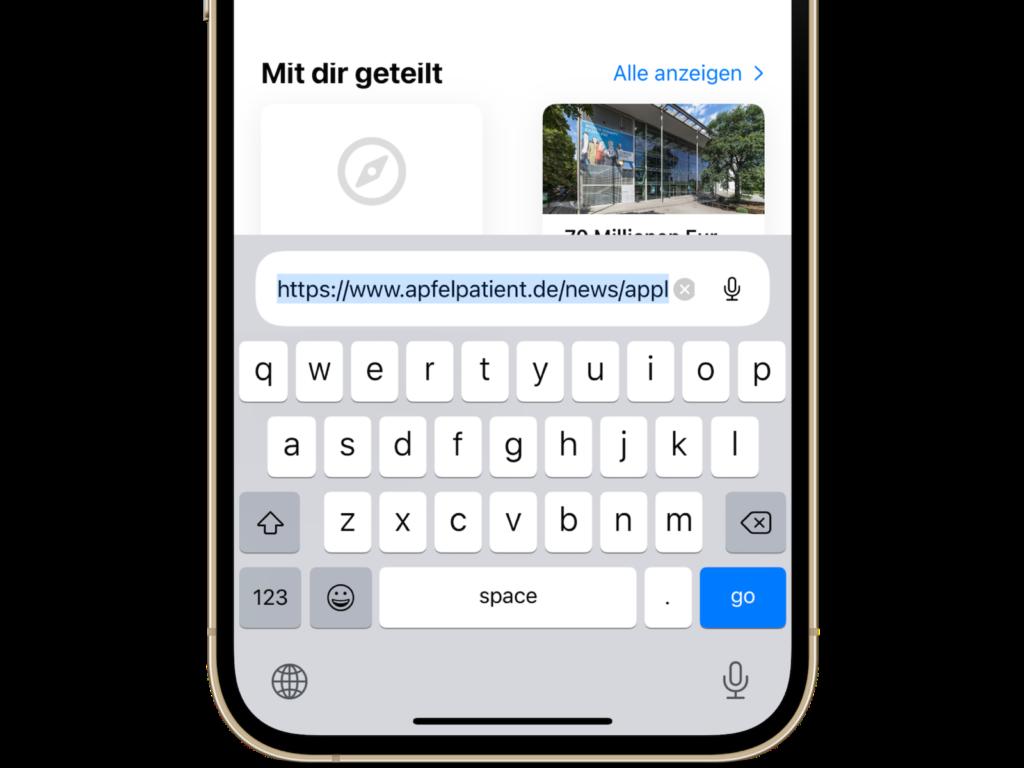 iOS 15 Safari Adressleiste