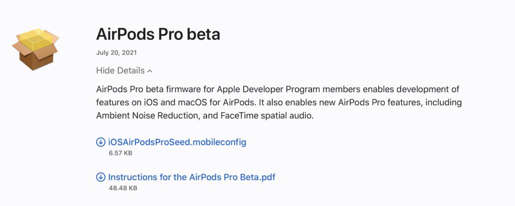 AirPods Pro Beta