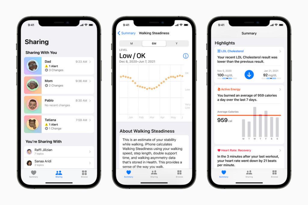 iOS 15 Health App Neuerungen