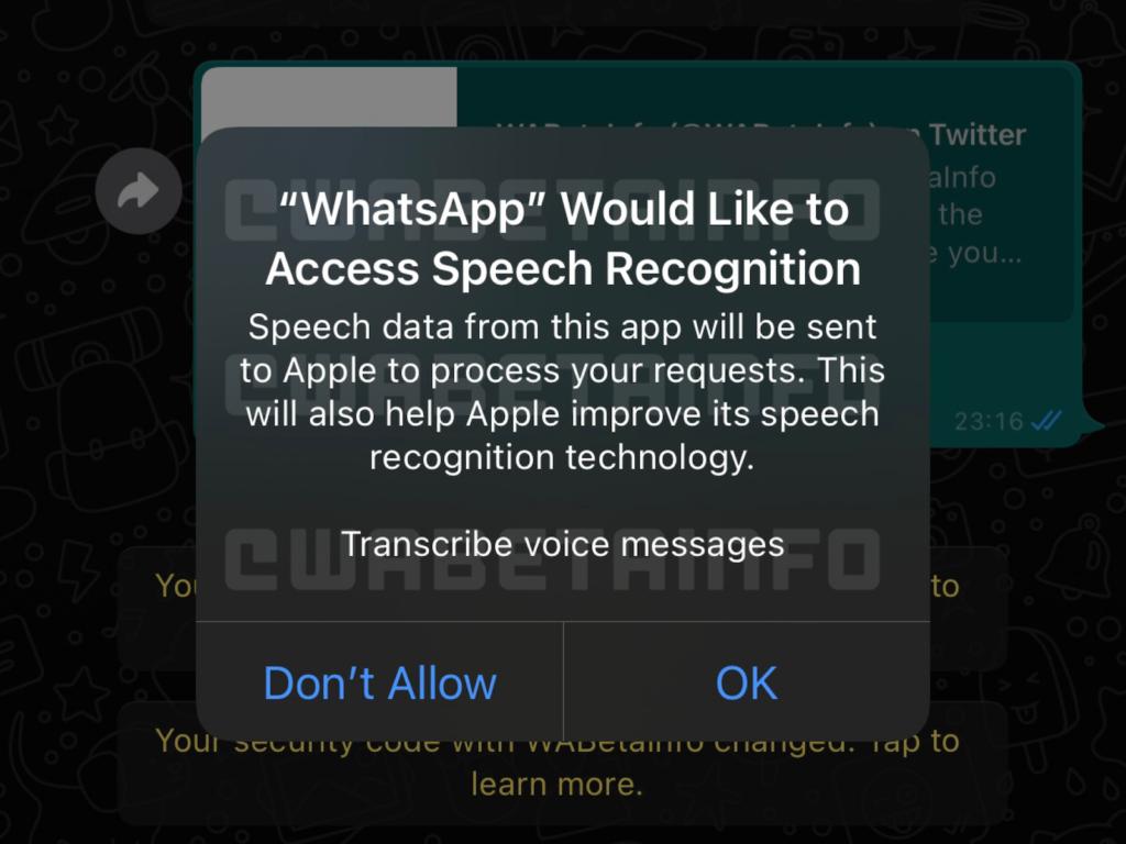 WhatsApp Sprachnachrichten transkribieren