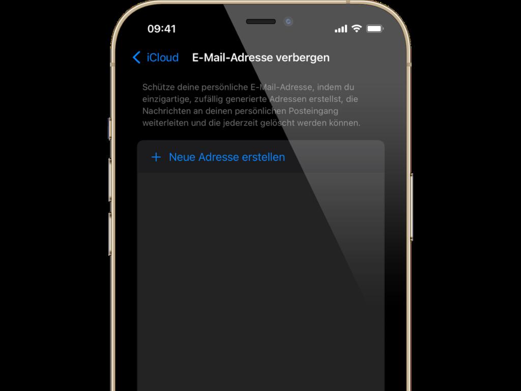 iOS 15 E-Mail-Adresse verbergen