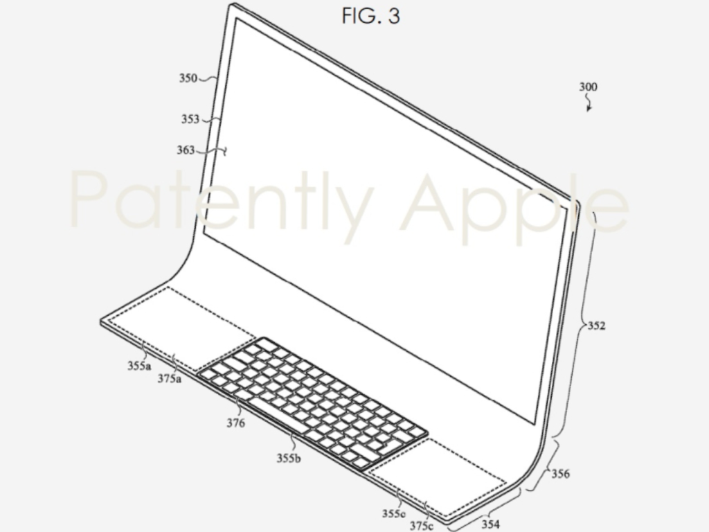 iMac Glasscheibe Apple Patent
